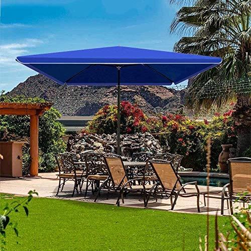 XNJJ Paraguas Moderna y Simple, de Alta Densidad Resistente al Agua y UV a Prueba de Toldo sombrillas for Jardines, mercados, Balcones, Patios, Playas, Campamentos, Etc. 9.5