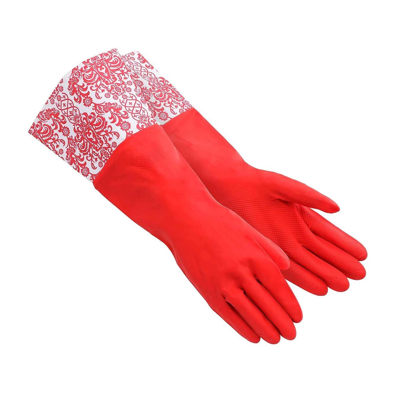 大同 ゴム手袋 レッド M Long Gloves ロンググローブ