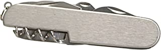 Thirsty Rhino Util, Stainless Steel Utility Pocket Knife, 7-in-1 Multi-Function Multi-Tool, Silver (Set of 1)