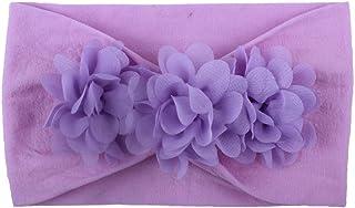 Ashtray - Children's Chiffon Flower Cute Solid Headband Hair Band Flower Accessories Headwear,Colour:G (Color : C)