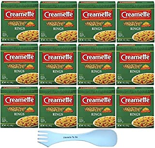 Creamette Pasta Rings Small 7 Ounce Box With White Spork (12 Pack)