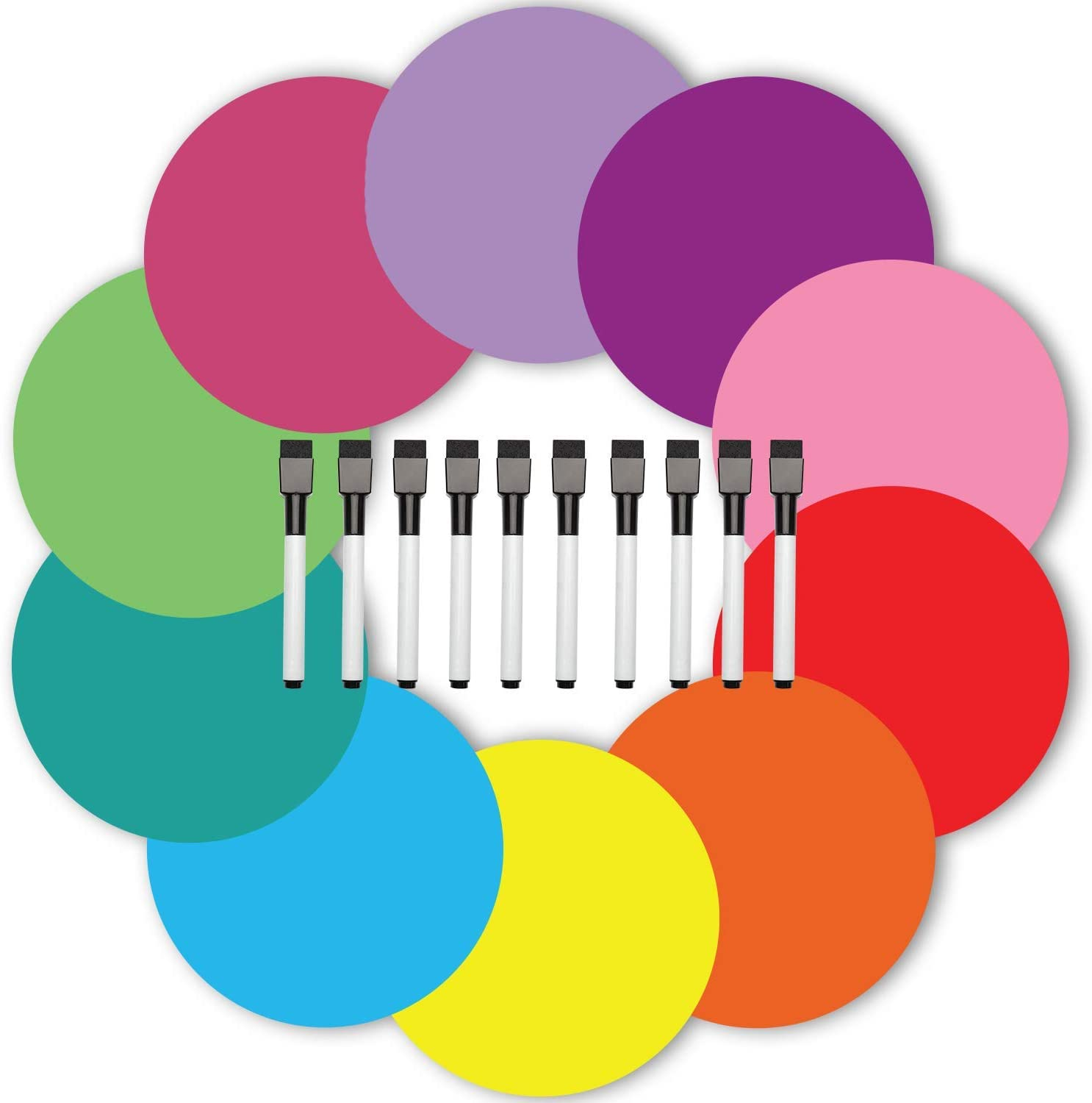 Dry Erase Circles Max Sale 73% OFF 20 Pieces Markers with Eraser and