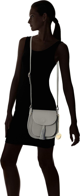Chicca Borse Cbcad001tar, Sac à l'épaule Femme, 7x21x23 centimeters (W x H x L) Gris (Grigio Scuro)