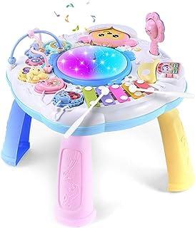 طاولة تعليمية بلاستيكية للأطفال الصغار من كوسيو طاولة تعلم إبداعية مزودة بأصوات وضوء ألعاب تعليمية مبكرة للأطفال