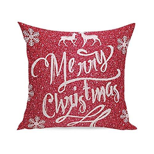 Kissen Fall, vovotrade Weihnachten Super Weiches Baumwollleinen, quadratisch dekorativen Kissenbezug 45x 45cm/45x 45cm, g, 45cmx45cm/17.7''x17.7