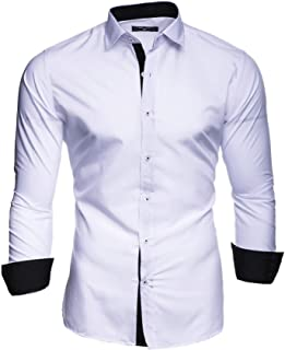 fca84b3802 Kayhan Homme Chemise Slim Fit Repassage Facile Coton, Manches Longues  Modell UNI S-6XL