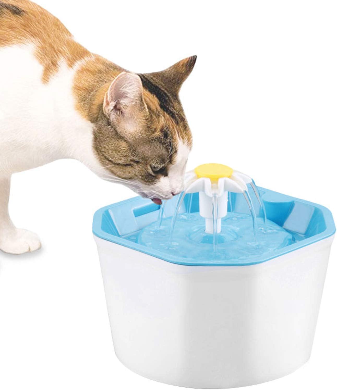 Max 41% OFF BOBEastal San Francisco Mall Cat Water Fountain H Flower 1.6L Healthy
