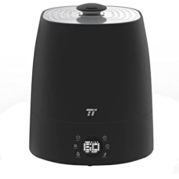 TaoTronics TT-AH007 Warm & Cool Mist 5.5L Ultrasonic Air Humidifiers for Home Bedroom Office with Filter, LED Display, External Humidity Sensor, 360°Rotatable Nozzle-Black
