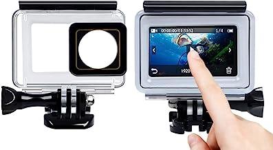 QuikProf 40m Underwater Waterproof Back Protective Housing Case Cover for Yi 2 II 4K Touchscreen Panel