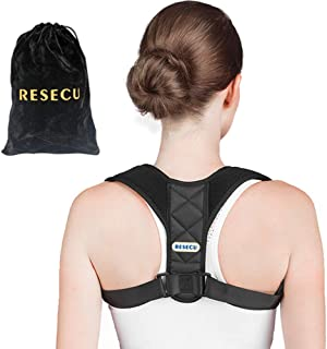 RESECU Posture Corrector for Men and Women Adjustable Upper Back Brace for Clavicle Support and Providing Pain Relief from...