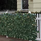 Best Choice Products 94x39in Artificial Faux Ivy Hedge Privacy Fence Wall Screen, Leaf and Vine Decoration for Outdoor Decor, Garden, Yard - Green
