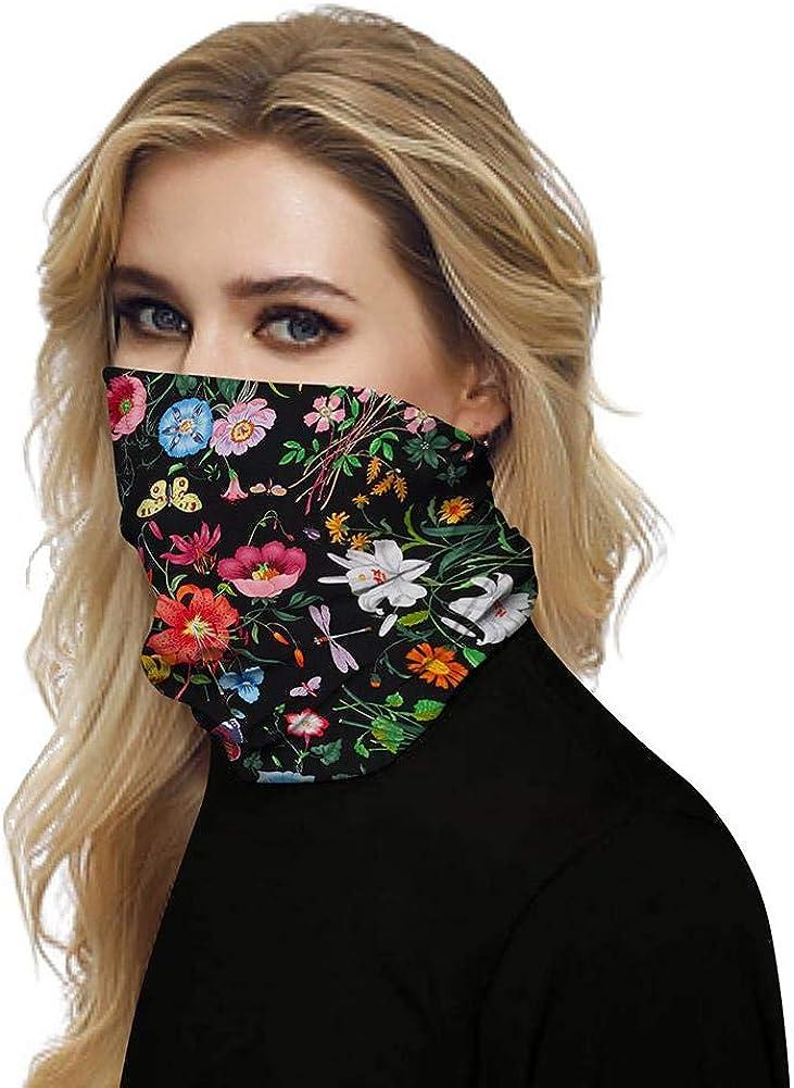 UV Protection Bandanas Headwear Mouth Cover Neck Gaiter Tube Scarf Balaclava