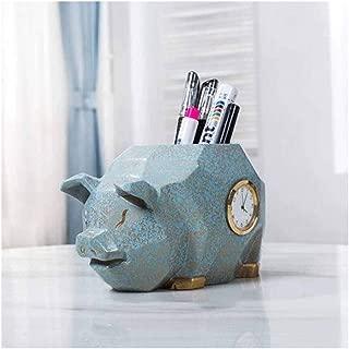 DKX Pen Holder, Creative Fashion Stationery, Desktop Decoration Storage Pen Holder, Piglet Decoration Office Student Pen Holder (Color : C)