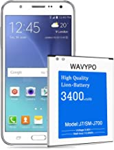 (Upgraded) Wavypo Galaxy J7 Battery, 3400mAh Replacement Battery for Samsung Galaxy J7 SM-J700 (2015 Ver), EB-BJ700BBC/ EB-BJ700BBU, J700H, J700P, J700T, J700T1, J700M [24 Month Warranty]