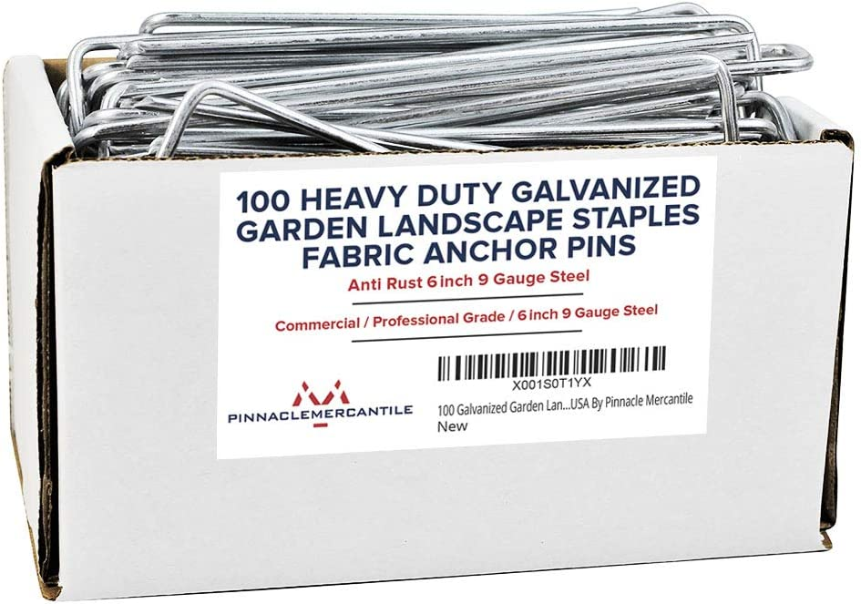 Pinnacle Mercantile Austin Mall 100 Today's only Pack Galvanized Staples Landscape Garden
