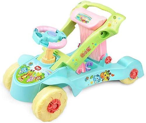 MINISU S ling Baby Walker Multifunktions Dual-Use Einstellbare Geschwindigkeit Deformable Baby Spielzeugwagen Geeignet für 0 Jahre alt 1 Jahr alt 2 Jahre alt Baby Reise