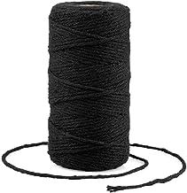 G2PLUS Zwart Katoen String Twine, 100 M Gift Wrapping Bakers String, 2 MM Handwerk Decoratieve Cord Twine voor DIY Gift De...