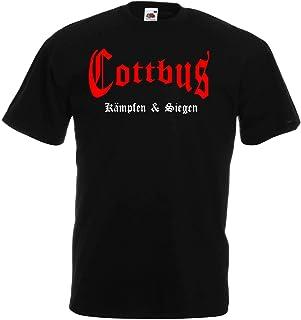 World of Shirt Cottbus Herren T-Shirt kämpfen und Siegen Shirt Ultras