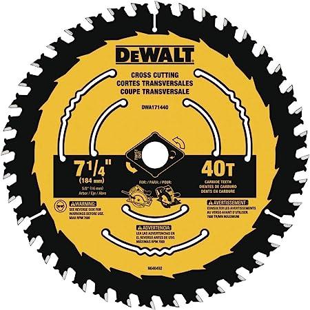 Dewalt Dwa171460 7 1 4 Inch 60 Tooth Circular Saw Blade Amazon Com