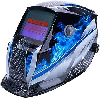 ALLOMN Welding Mask, Solar Welding Helmet Head-Mounted Adjust Helmet Automatic Darkening, High Sensitivity Sensor, Solar Battery Powered, Full Shade Range 4/9-13