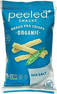 Peeled Snacks Organic Baked Pea Crisps, Sea Salt, 3.3 Ounce