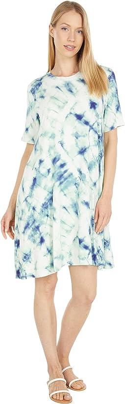 Jade Marble T-Shirt Knit Dress
