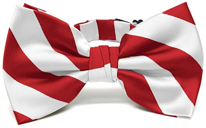 History of 1920s Men's Ties, Neckties, Bowties TieMart Mens Pre-tied Adjustable Striped Bow Tie  AT vintagedancer.com