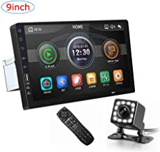 CarThree 9 Inch Single Din Car Stereo HD 1080P Car Radio Touch Screen with Rear View..