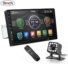 CarThree 9 Inch Single Din Car Stereo HD 1080P Car Radio Touch Screen with Rear View Camera Mirror Link Bluetooth FM Radio Tuner AUX/USB/Car MP5 Player