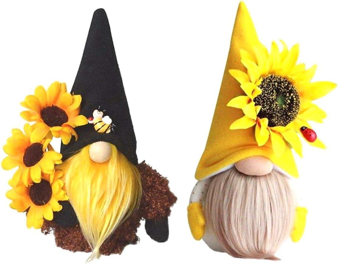Kepfire Charlotte Mall 100% quality warranty Cute Bee Sunflower Gnome Doll Elves Faceless F Plush