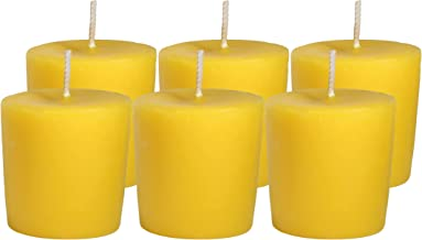 CandleNScent Citronella Votive Candles   Scented - 15 Hour Burn Time - Made in USA (Pack of 6)