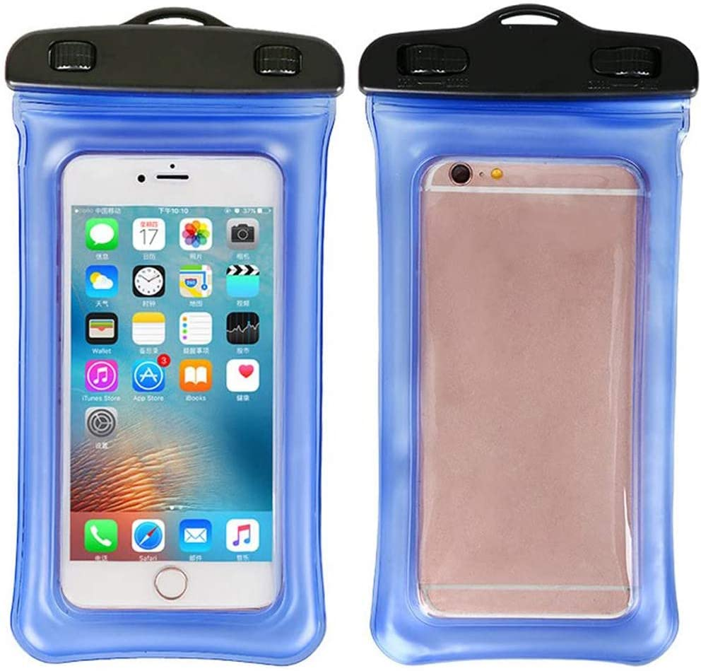 ITODA Waterproof Cellphone Dry Floating Bag Pouch Clear PVC Touch Case with Neck Strap for iPhone 8/7 Plus, iPhone 8/7, iPhone 6/6s, iPhone 6/6s Plus, iPhone 5s and Up to 5.5 inch Other Phone