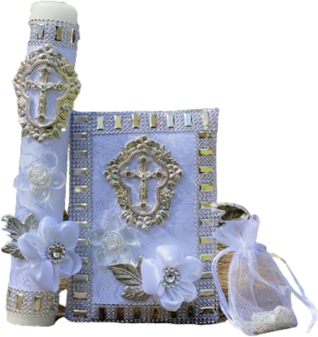 Candle Set - Juego de Christening First Baptism Vela- Max 68% New York Mall OFF Handmade