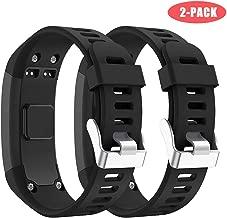 Junboer Compatible Garmin Vivosmart HR Watch Band, Accessories Silicone Replacement Wrist Watch Strap for Garmin Vivosmart HR SmartWatch(NOT for Vivosmart HR+), Only for 4PK (Black+Black)