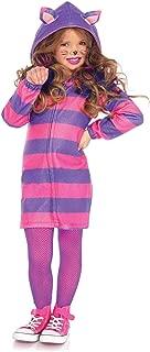 Leg Avenue's Girl's Cheshire Cat Cozy Costume, Pink/Purple, Small