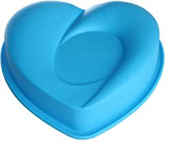 X-Haibei Flexible 8-inch Heart Gelatin Cake Baking Pan Silicone Mousse Mold Party Maker