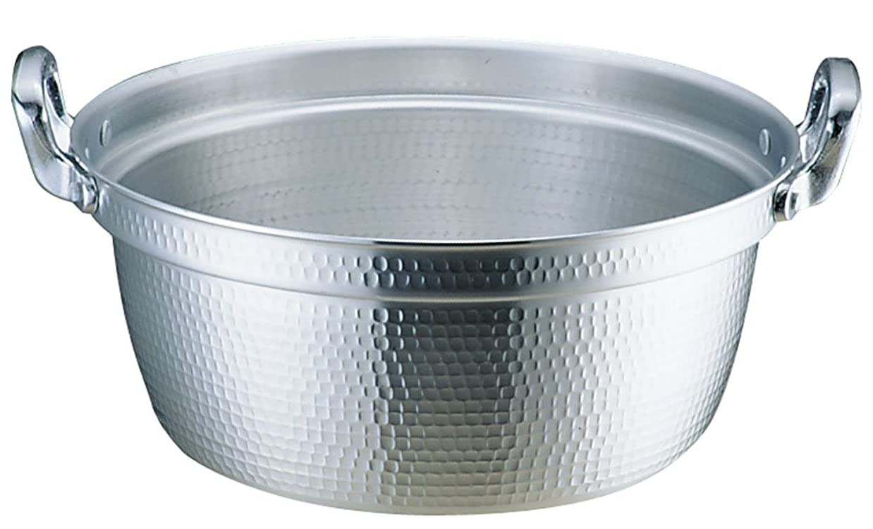 コモランマ下る同一性アカオアルミ DON打出円付鍋 33cm アルミニウム合金、ハンドル(アルミダイキャスト) 日本 AEV02033
