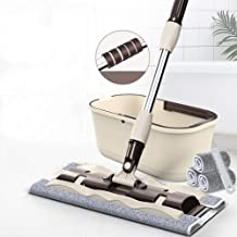 JSZMD Hands-Free Washing Flat Mop Household Wet and Dry Wood Floor Cleaning Tool