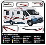 GRAFIC Autocollant de Graphiques Vinyle Kit RV Caravan Camping Caravane Camper Van Set Stickers pour Caravane...