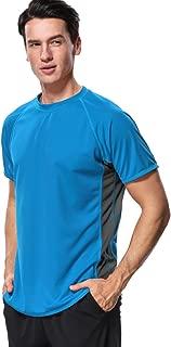 Men's Rash Guard Short Sleeve Swim Shirts Sportwear Loose Fit UPF 50+