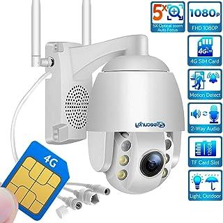 Cámara de vigilancia para exteriores tarjeta SIM cámara WiFi 4G cámara IP PTZ zoom óptico 5xenfoque automático ONVIFvisión nocturna de 60 mIP66 resistente a la intemperiesoporte máximo 128 GB