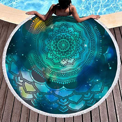 Go Go Grifendoor Toalla de playa ligera y cómoda para viajes, para camping, color blanco, 150 cm