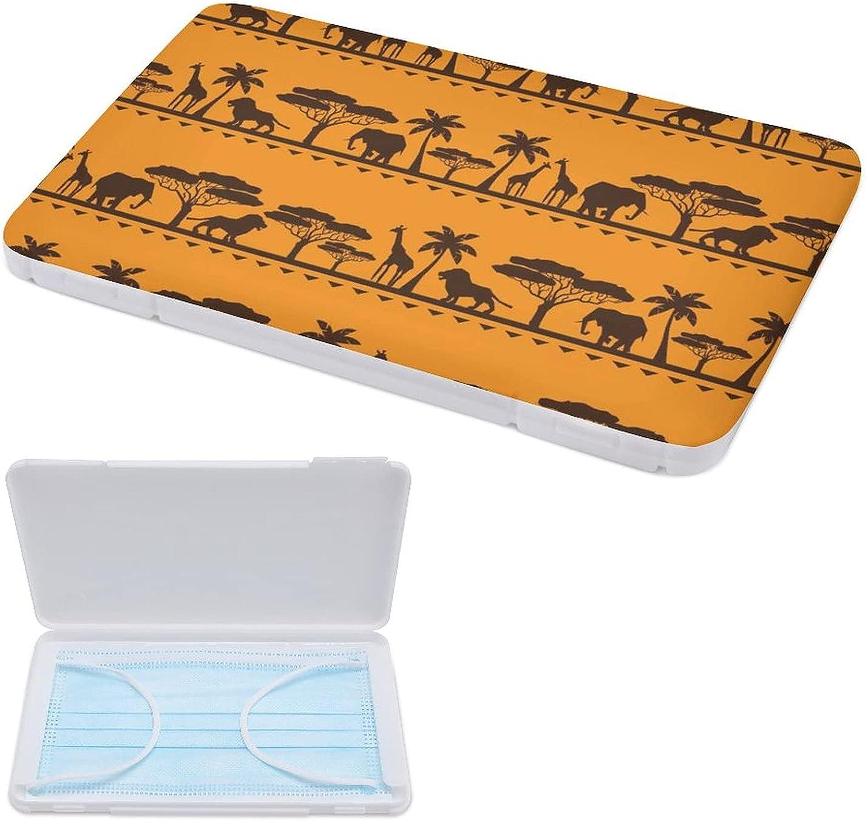 Yuzheng Caja De Almacenamiento De Mascarilla Portátil Patrón Étnico Africano Clip De Almacenamiento Anticontaminación Para Máscaras 11cmx19cm