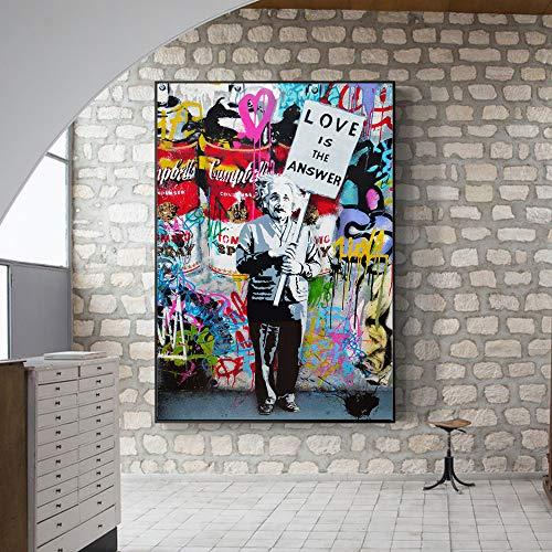 Geiqianjiumai Große erfinder Moderne Bild leinwand abstrakte wandkunst Poster Kunst malerei Wohnzimmer rahmenlose malerei 40x60 cm