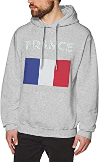 DGGE France Flag Men's Hoodies Sweatshirts Clothing and Sports