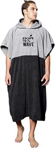 Vulken Extra Large Thick Hooded Beach Towel Changing Robe. Surf Poncho Men and Women for Easy Change in Public. Quick...