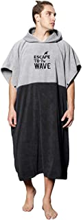 Vulken Extra Large Thick Hooded Beach Towel Changing Robe. Surf Poncho Men and Women for Easy Change in Public. Quick Dry ...