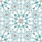 WallPops FP2949 Radiance Peel & Stick - Azulejos para suelo, color azul