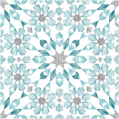 Wallpops FP2949 Radiance Peel & Stick Floor Tiles Bodenfliesen, blau
