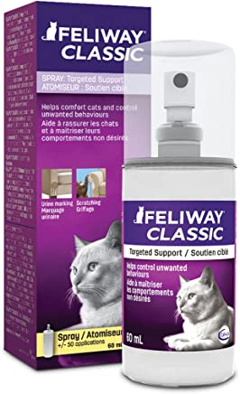 Feliway Spray CLASSIC Spray, 60 mL - Reassures Cats during Car Travel, Veterinary Visits